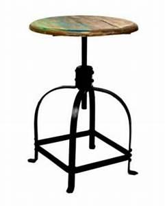 Barhocker Metall Holz : barhocker aus metall und holz im industriedesign sitzh he 42 58 cm kaufen bei richhomeshop ~ Indierocktalk.com Haus und Dekorationen