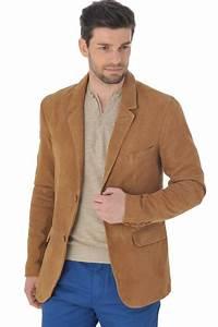 Veste En Daim Homme : veste homme serge pariente sandou daim beige cuir ~ Nature-et-papiers.com Idées de Décoration