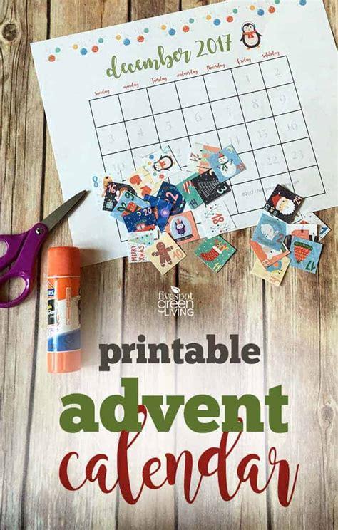 printable advent calendar  christmas  spot