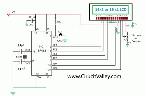 Lcd Wiring Diagram by Embedded Engineering Hd44780 16x2 Char Lcd Interfacing