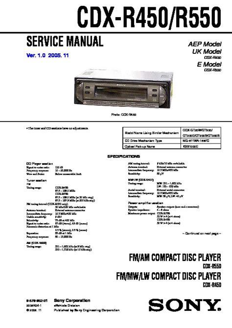 manual sony cdx gt06 wiring diagrams wiring diagram schemes
