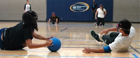 goalball blindfolds soccer wheelchairs cal busts barriers