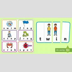 Ccvc Word Puzzles Matching Cards  Phonics, Phase 3, Phase 4