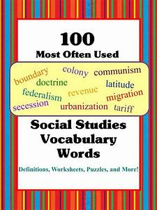 This social studies Vocabulary Words Unit consists of the ...