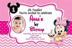 Baby Minnie Mouse Birthday Invitations Best Party Ideas