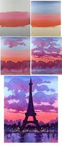 Eiffel Sunset Easy Brushes Big Flat Round Medium