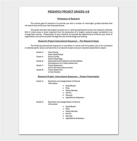 research paper template   formats outlines