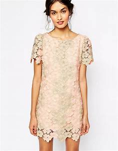 black lace shift dress ym dress 2017 With robe dentelle beige