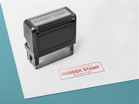 rectangular rubber stamp mockup mockuptree