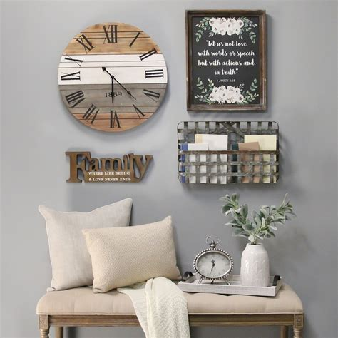 Whether you're looking to make a tight space feel larger or just want to add a little bit of plus, they play up the vibe that your other decor has established. Stratton Home Decor Happiness Wood Tray