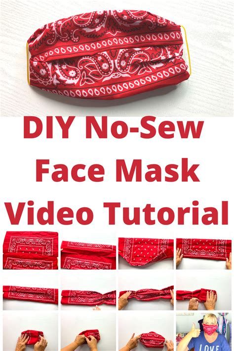 easy  sew diy face mask  bandana  elastic bands
