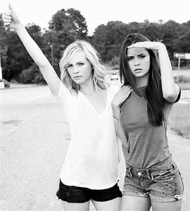 Nina Dobrev and Candice Accola: Friends On and Off the Set ...