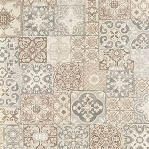Tissu Carreau De Ciment : coton enduit imprim carreaux de ciment taupe pas cher tissus price ~ Teatrodelosmanantiales.com Idées de Décoration