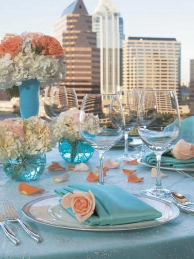 wedding  colors peach  blue arabia weddings