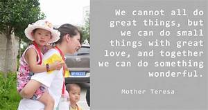Mother Teresa Quotes About Volunteering. QuotesGram