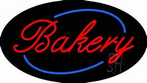 Cursive Red Bakery Animated Neon Sign