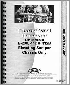 International Harvester 412b Elevating Scraper Service