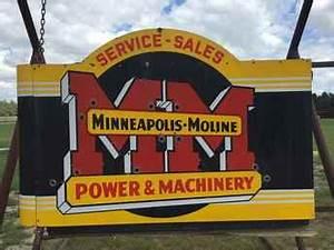 Used Farm Tractors for Sale Minneapolis Moline Neon Sign