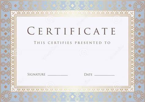 editable certificate  completion template update