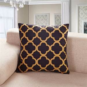 decor pretty gold throw pillows for home accessories With black and brown decorative pillows