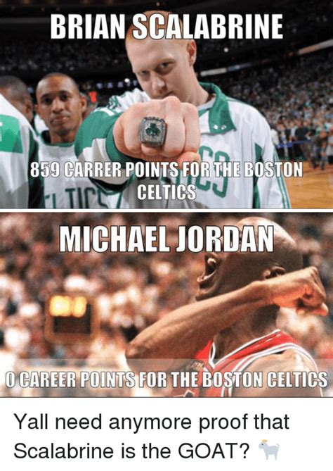 Scalabrine Memes - brian scalabrine 859 carrer points for the boston celtics michael jordan career points for the