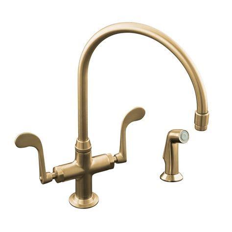 KOHLER Essex 2 Handle Standard Kitchen Faucet with Side