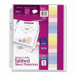 avery protect tab top load clear sheet protectors with With sheet protectors letter size