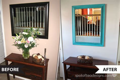 entry way mirror makeover spot of tea designs