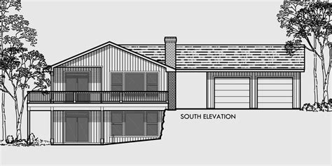 free house plans with basements side sloping lot house plan walkout basement detached garage