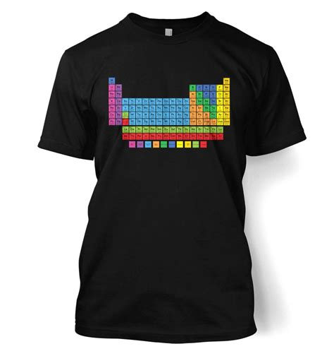 periodic table t shirt periodic table t shirt somethinggeeky