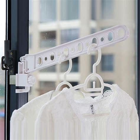 foldable window hanger clothes hanger rack hanging clothes rod wardrobe portable space saver