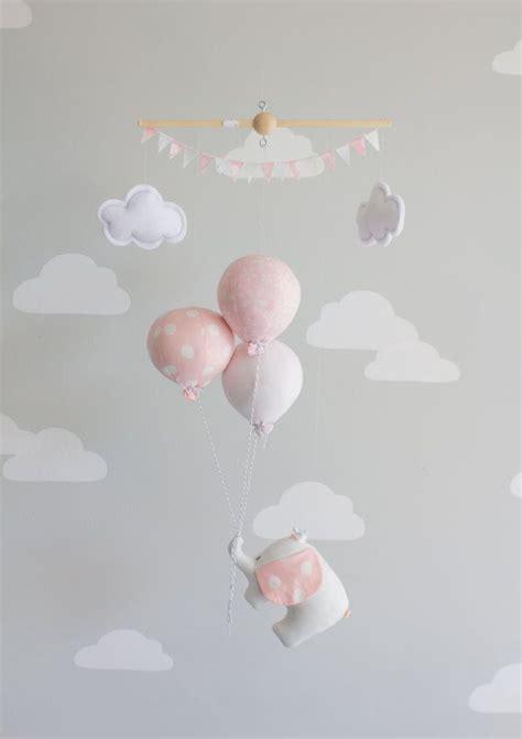 Mobile Kinderzimmer Mädchen pink elephant baby mobile nursery decor pink and