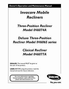 Deluxe Three-position Ih6065 Series Manuals