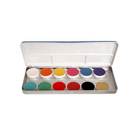 kryolan aqua color palette fp kryolan from guru makeup