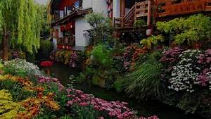 Houses and beautiful gardens
