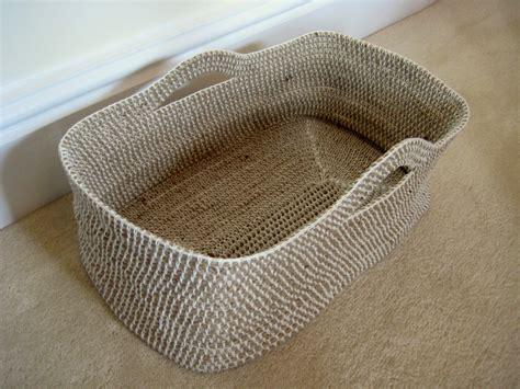 crochet basket crochet rope basket make my day creative