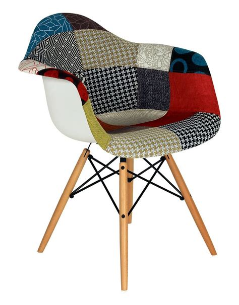 chaise style eames chaise daw patchwork reproduction du modèle disponible à