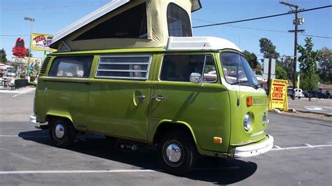 green volkswagen van 1977 vw volkswagon westfalia cer bus rv for sale youtube