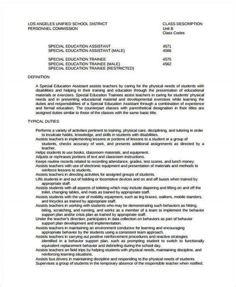 teacher assistant resume templates