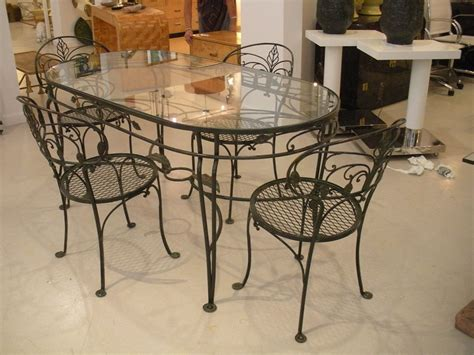 wrought iron glass top dining table decor ideas