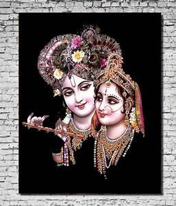 MeSleep Canvas Radha Krishna Painting Without Frame (46 x