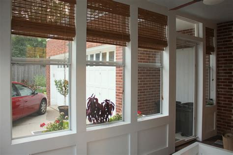 bamboo porch shades bamboo shades in sunroom easy home decorating ideas