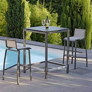 Chaise De Bar Exterieur : table et chaise de bar ext rieur ~ Melissatoandfro.com Idées de Décoration