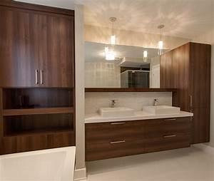 Armoire Salle De Bain Bois : salle de bain sur mesure meubles armoires sen cal fils ~ Teatrodelosmanantiales.com Idées de Décoration