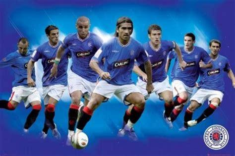 Rangers Star Players 2010, Rangers FC Poster - PopArtUK