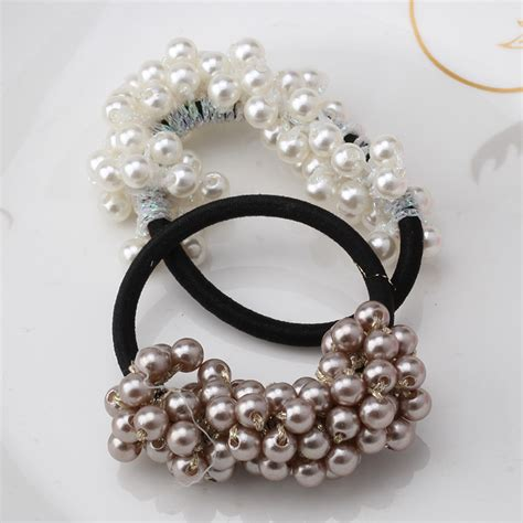 hair ornaments hot sale new 2016 hair accessories pearl elastic rubber
