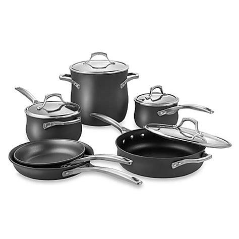 calphalon cookware nonstick piece unison beyond bath bed ceramic pots simply pans bedbathandbeyond pan sets commercial pot stick non kitchen
