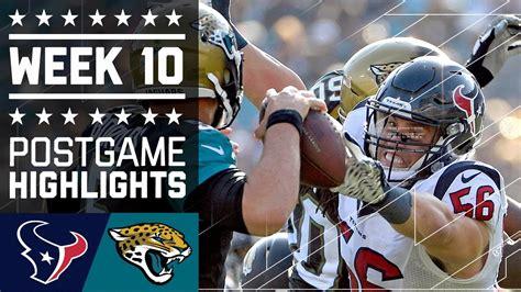 texans  jaguars nfl week  game highlights youtube