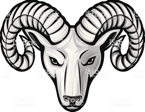head   ram stock vector art  images  animal
