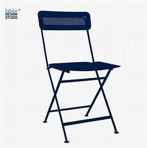 Chaise Metal Pas Cher : helios chaise pliante en m tal bleue habitat chaises ~ Dailycaller-alerts.com Idées de Décoration